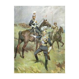 Los 21ros lanceros - ejército británico impresión en lona estirada