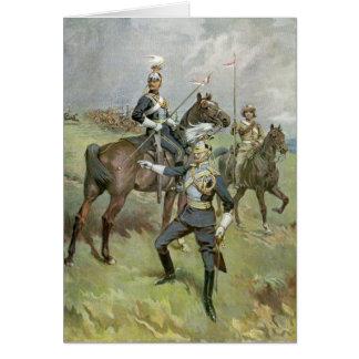 Los 21ros lanceros - ejército británico tarjeta de felicitación