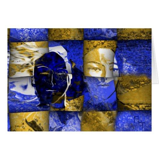 Los 2 lados de la noche de la luna… tarjeta de felicitación