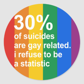 los 30 de suicidios son gay relacionado pegatina
