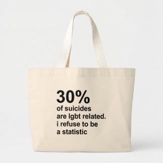 los 30% de suicidios son lgbt relacionado bolsa tela grande