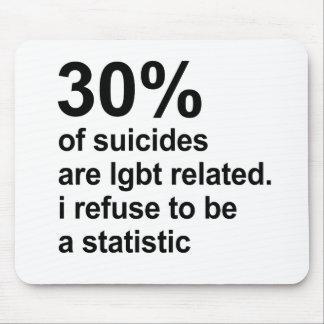los 30% de suicidios son lgbt relacionado mousepad