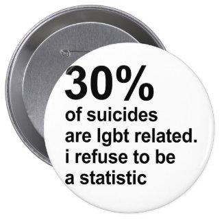 los 30% de suicidios son lgbt relacionado pin redondo 10 cm