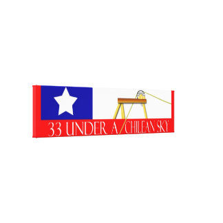 Los 33 Chile miner miracle Canvas Print