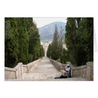 Los 365 pasos de Calvario en Pollenca Mallorca Tarjeta De Felicitación