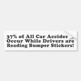 Los 37% de todos los accidentes de tráfico ocurren pegatina de parachoque
