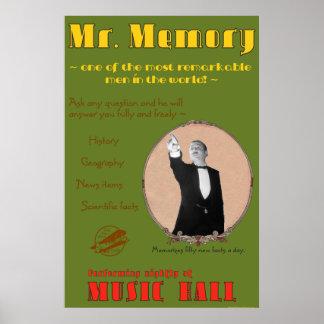 Los 39 pasos: Poster de la publicidad de Sr. Memor