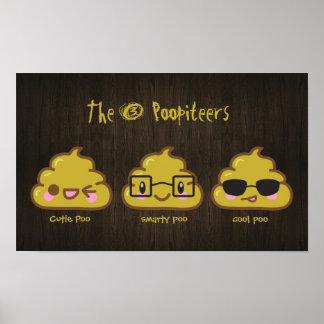 """Los 3 Poopiteers """"pooster"""" personalizado Póster"""