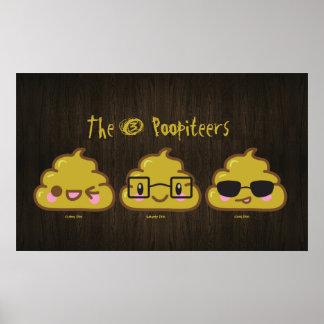"""Los 3 Poopiteers """"pooster """" Póster"""