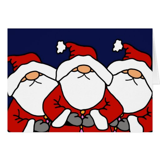 Los 3 Santas Tarjeta