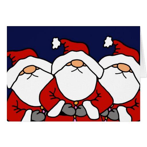 Los 3 Santas Tarjeta De Felicitación
