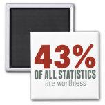 los 43% de todas las estadísticas (sea sin valor) imán de nevera