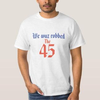 Los 45 nosotros camiseta escocesa con túnica de la
