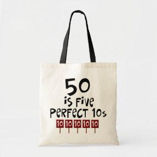 ¡los 50.os regalos de cumpleaños, 50 son 5 10s per bolsa