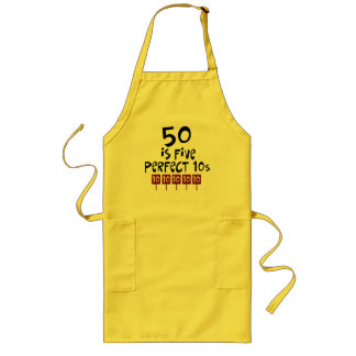 ¡los 50.os regalos de cumpleaños, 50 son 5 10s per delantal largo