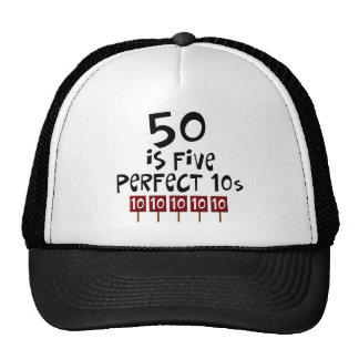 ¡los 50.os regalos de cumpleaños, 50 son 5 10s per gorro