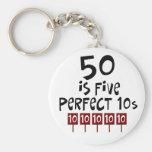 ¡los 50.os regalos de cumpleaños, 50 son 5 10s per llaveros