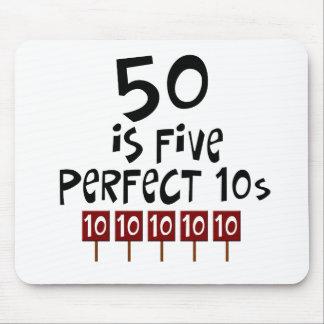 ¡los 50.os regalos de cumpleaños, 50 son 5 10s per tapete de ratón