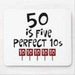 ¡los 50.os regalos de cumpleaños, 50 son 5 10s per tapete de raton