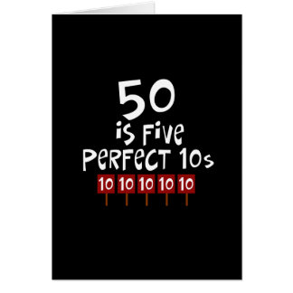 ¡los 50.os regalos de cumpleaños, 50 son 5 10s per tarjeta