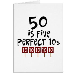 ¡los 50.os regalos de cumpleaños, 50 son 5 10s per tarjeta de felicitación