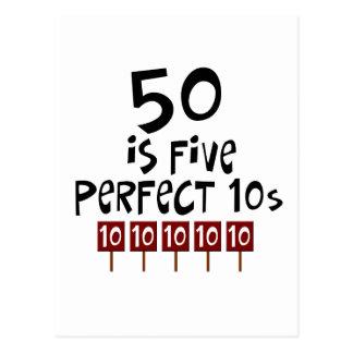 ¡los 50 os regalos de cumpleaños 50 son 5 10s per postal