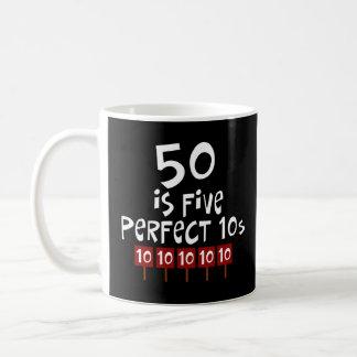 ¡los 50.os regalos de cumpleaños, 50 son 5 10s per tazas