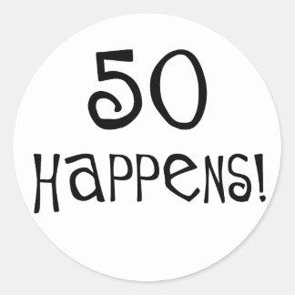 ¡los 50.os regalos de cumpleaños, 50 suceden! etiquetas