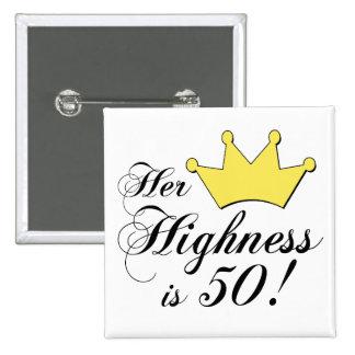 ¡los 50.os regalos de cumpleaños, su alteza son 50 pin