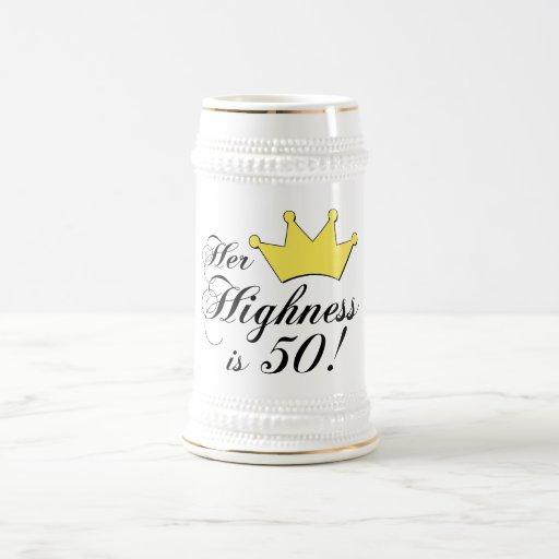 ¡los 50.os regalos de cumpleaños, su alteza son jarra de cerveza