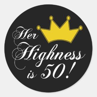 ¡los 50.os regalos de cumpleaños, su alteza son etiqueta redonda
