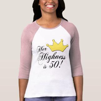 ¡los 50.os regalos de cumpleaños, su alteza son camiseta