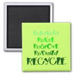 Los 5 r de reciclaje imán