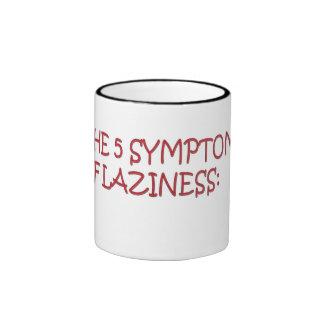 Los 5 síntomas de la holgazanería taza