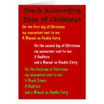 Los 6 días de contabilidad de navidad tarjetón