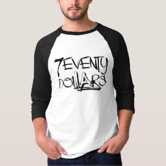 Los 70 dólares camiseta del raglán 3/4 de hombres polera