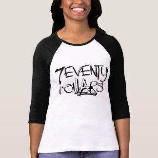 Los 70 dólares camiseta del raglán 3/4 de mujeres remera