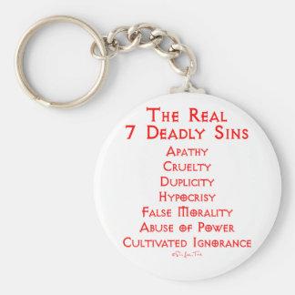 Los 7 pecados mortales REALES Llavero