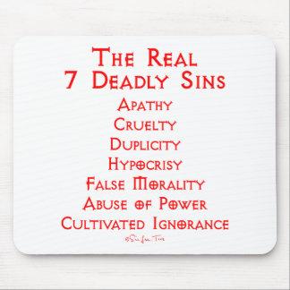 Los 7 pecados mortales REALES Alfombrillas De Ratones