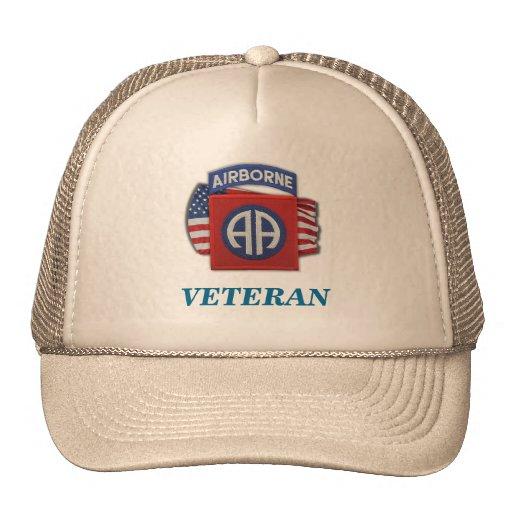 los 82.os veteranos aerotransportados Fort Bragg d Gorros Bordados