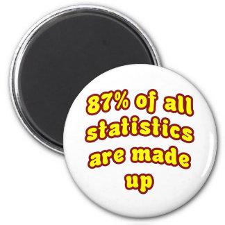 Los 87% de todas las estadísticas se componen imán redondo 5 cm