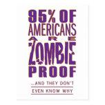 los 95% de americanos son prueba del zombi tarjetas postales