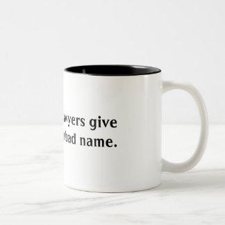 los 99% de abogados dan a resto un mún nombre taza de café de dos colores