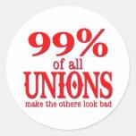 Los 99% de todas las uniones hacen el malo de la pegatinas redondas