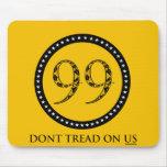Los 99% no pisan en bandera de la serpiente de cas alfombrilla de raton