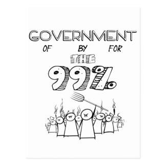 los 99% ocupan el movimiento total de Wall Street Tarjeta Postal