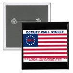 Los 99% ocupan la bandera de Wall Street la nueva  Pins