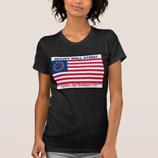 Los 99% ocupan la bandera de Wall Street la nueva Tee Shirts