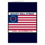 Los 99% ocupan la bandera de Wall Street la nueva  Tarjeta
