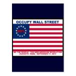 Los 99% ocupan la bandera de Wall Street la nueva  Tarjetas Postales